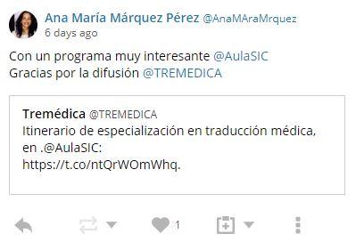 Opinión Máster de especialización en traducción médica
