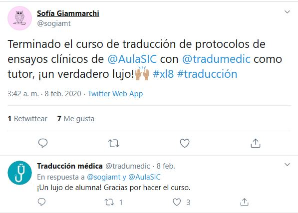 Opinión curso Traducción de protocolos de ensayos clínicos.